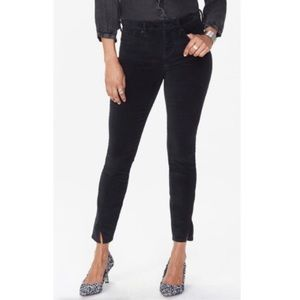 NyDJ Ami Velvet Twist Hem Jeans in Black